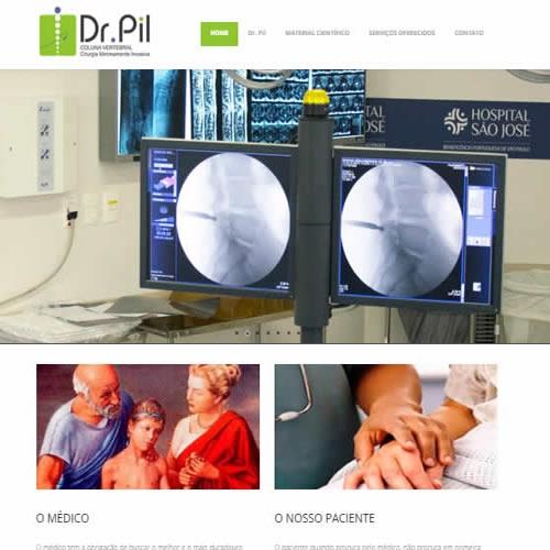 Criação de site Dr Pil