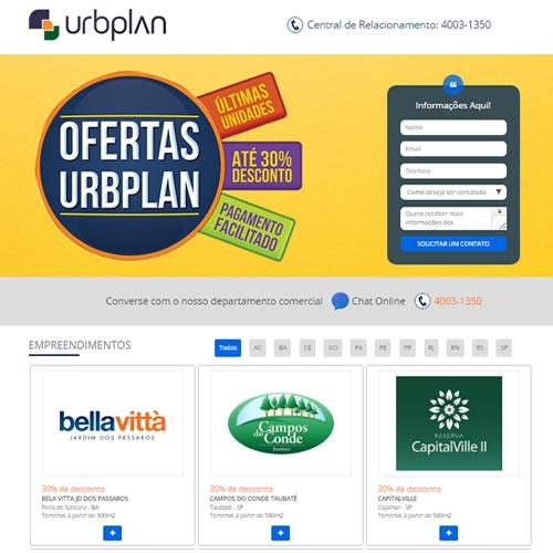 Criação de Landing Page URBPLAN