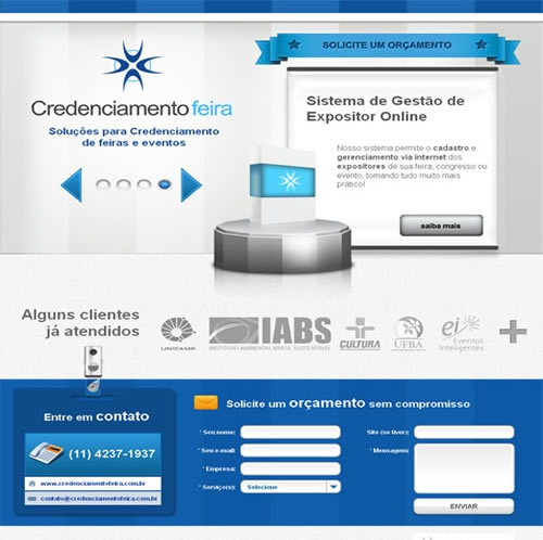 Criação de Landing Page Credenciamento Feira