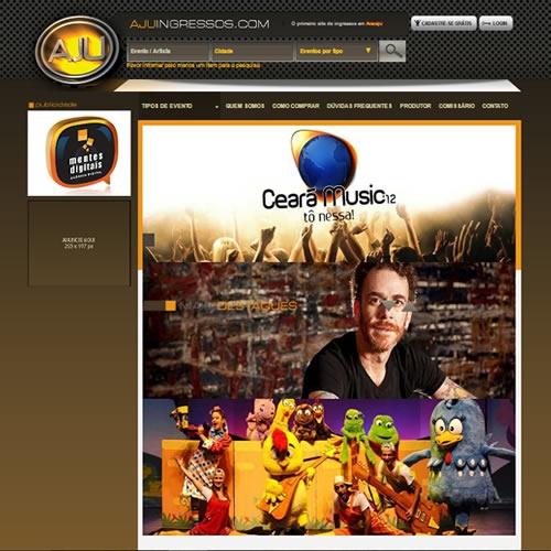 Criação de site para venda de ingressos Aju Ingressos