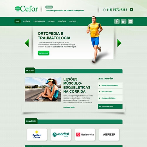 Criação do site da Clínica CEFOR