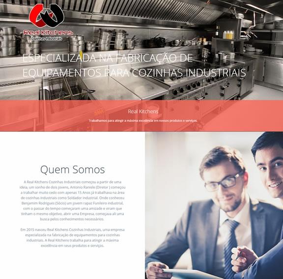 Criação de site responsivo Real Cozinhas Industriais