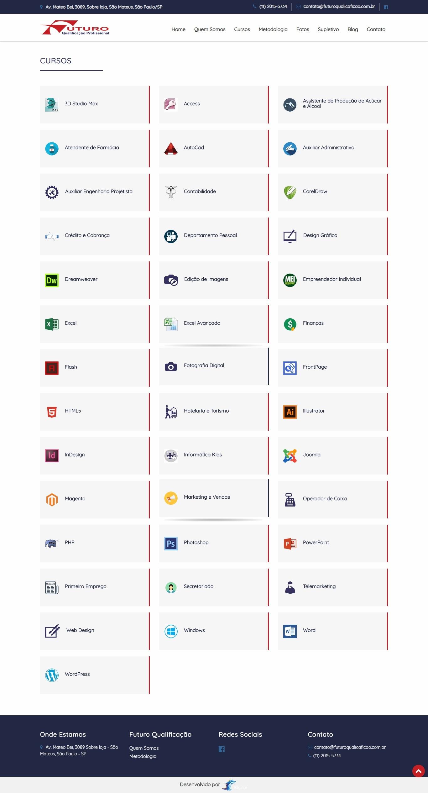 Criação de site para Futuro Qualificação