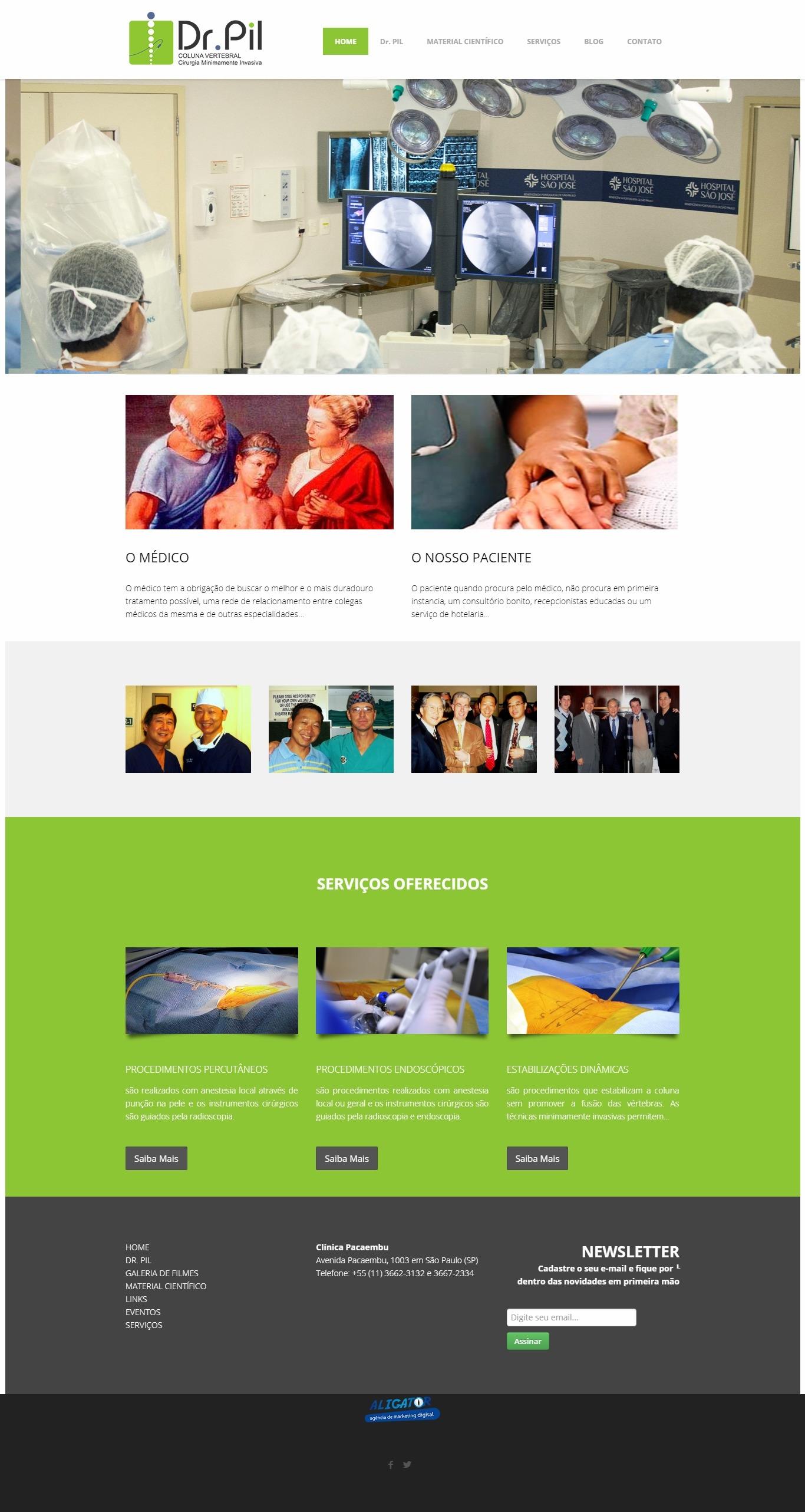 Criação de site para o Dr Pil Sun Choi
