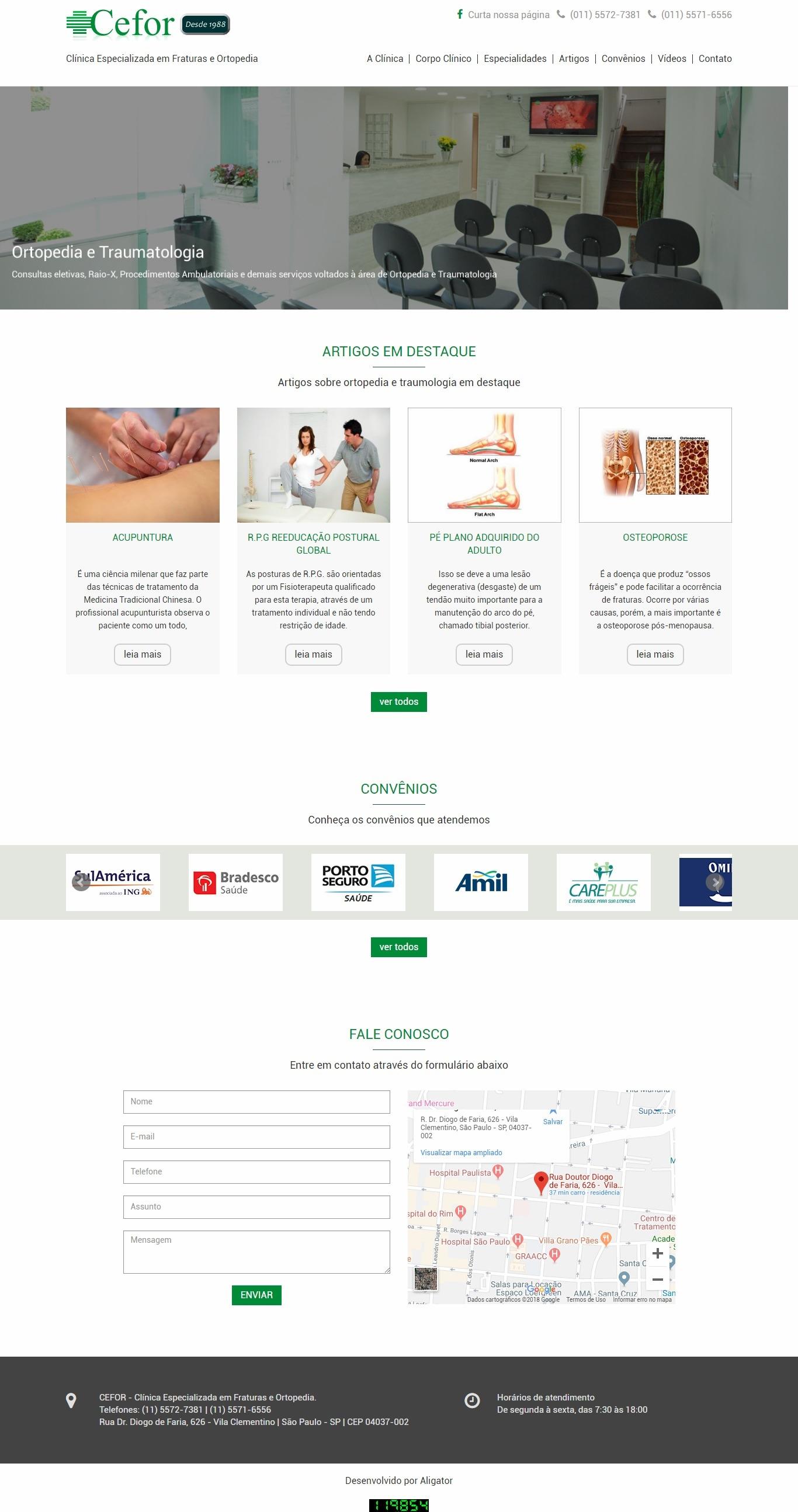 Criação de site para Clínica CEFOR