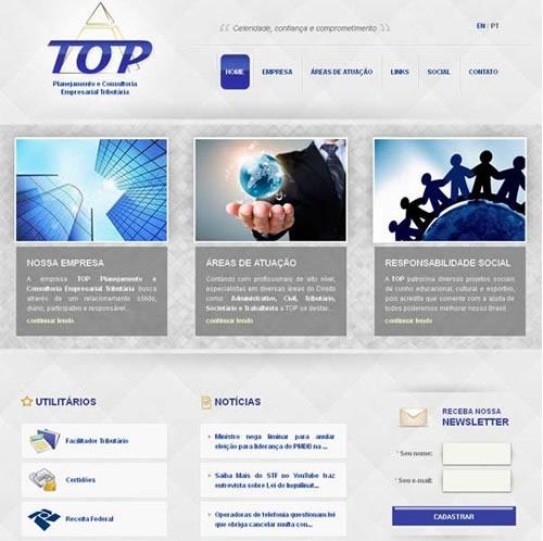 Criação e otimização de site Top Planejamento