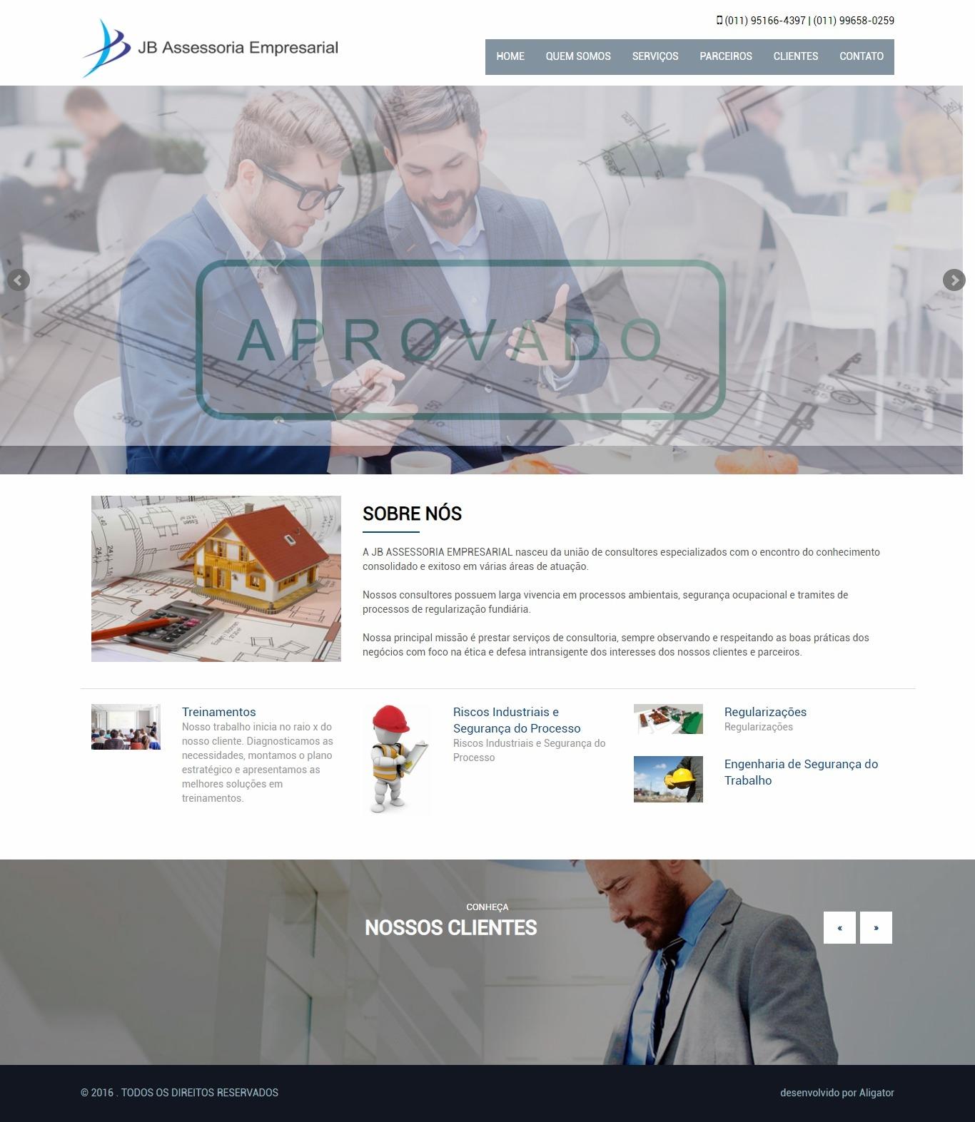 Criação do site JB Assessoria Empresarial