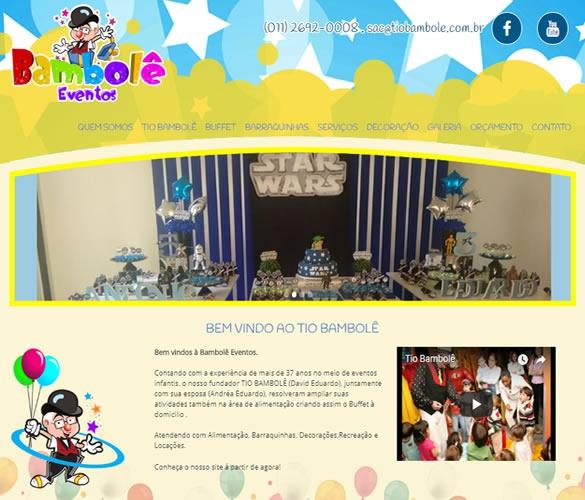 Criação de site para Buffet Tio Bambolê