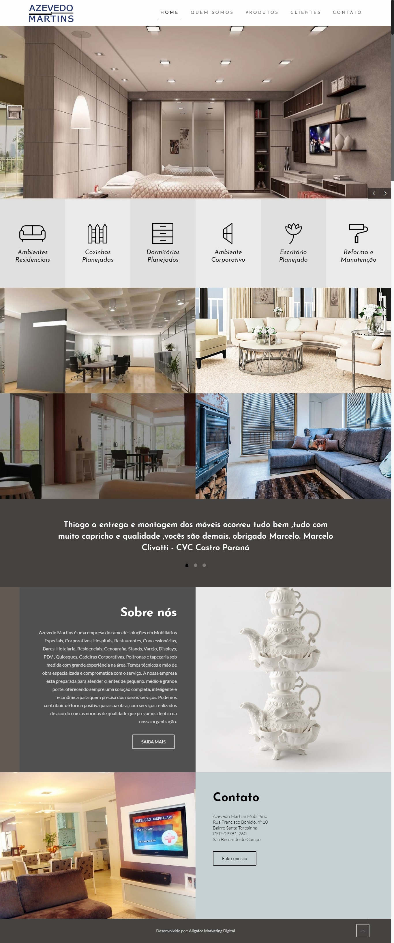 Criação de site para Azevedo Martins Mobiliário