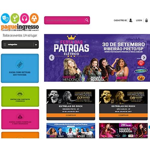 Criação de site para venda de ingressos - Pague Ingressos
