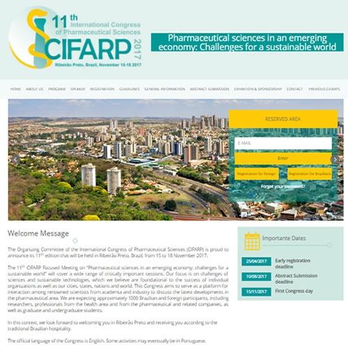 Criação de site para evento CIFARP 2017