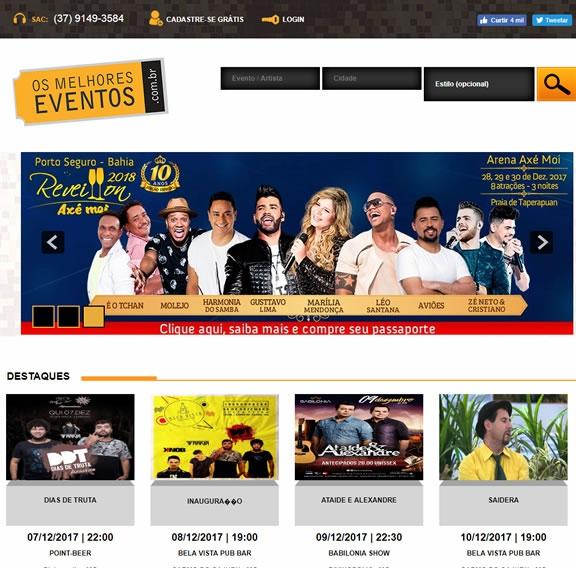 Criação de site para venda de ingressos - Os Melhores Eventos