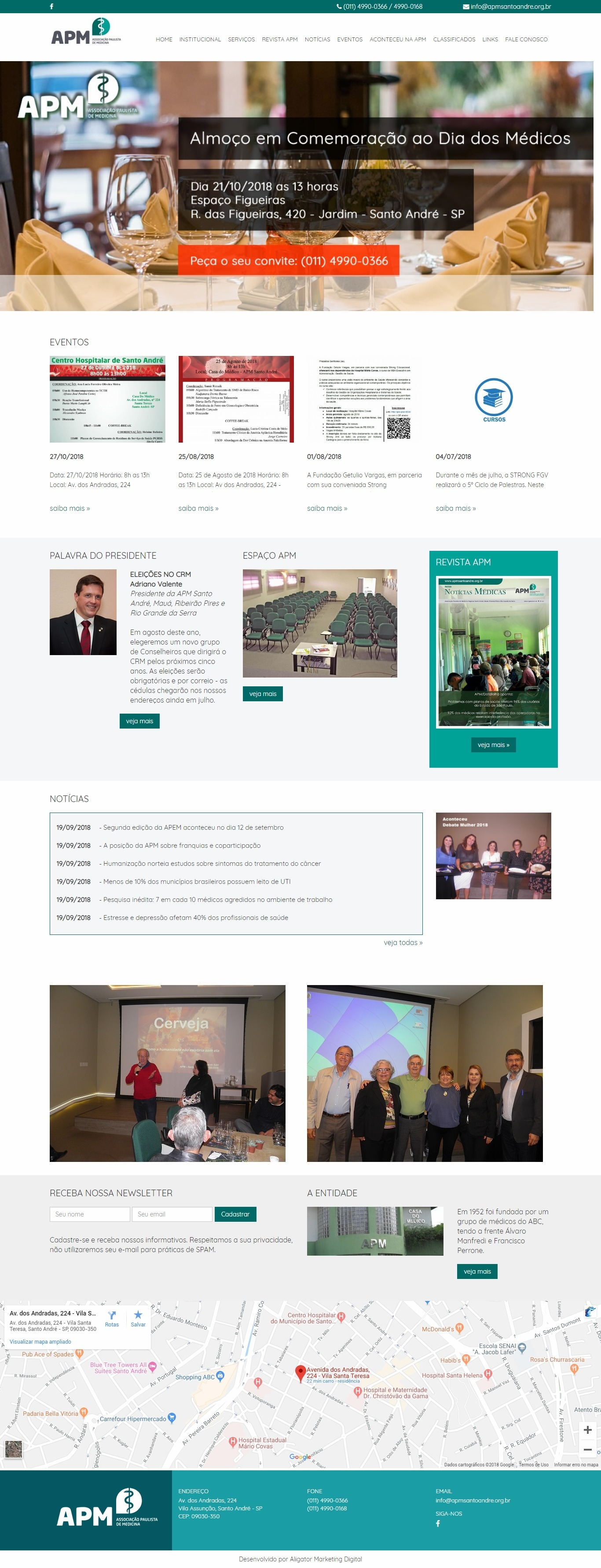 Criação de site para Associação Paulista de Medicina Regional Santo André