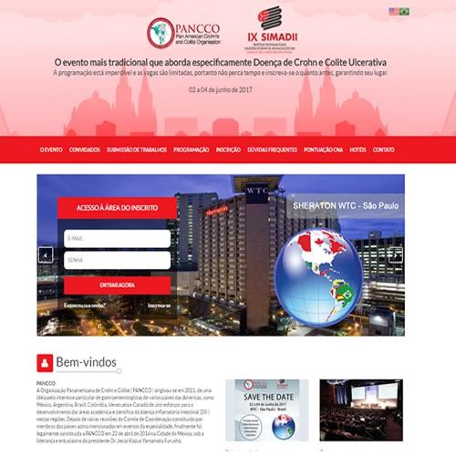 Criação de site para evento Pancco Simadii 2017