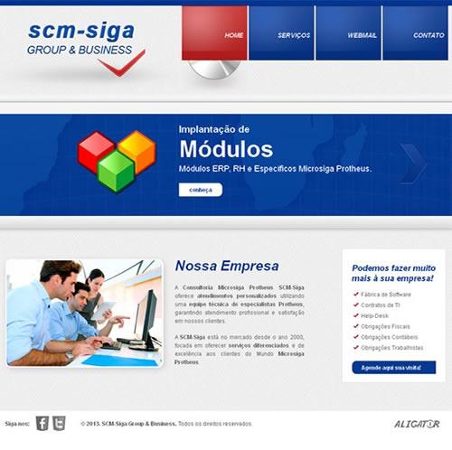 Criação e otimização de site SCM-SIGA